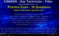 HVAC Exam Guide Practice G3, G2, Gas Fitter Technician Test - Practice Exam - SAMPLE