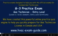 HVAC Exam Guide Practice G3, G2, Gas Fitter Technician Test - Practice Exam